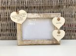 Shabby personalised Chic Photo Frame Auntie & Uncle Aunt Great Aunt Any Name - 332866875044